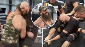Braun Strowman Launches Surprise Attack On Tyson Fury At The WWE Performance Center