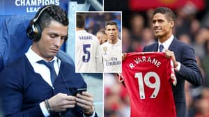 Cristiano Ronaldo Has Made His Feelings About Manchester Utd Signing Raphael Varane Very Clear