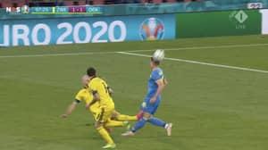 Sweden's Marcus Danielson Sent Off For Horror Challenge vs Ukraine