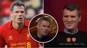 Roy Keane Spotted Laughing As Jamie Carragher Discusses Liverpool Title Failures