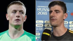 Thibaut Courtois Issues Message To Jordan Pickford After Belgium's Victory Against Brazil