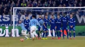 We Could Watch Leroy Sane's 'Knuckleball' Free-Kick Against Schalke All Night Long