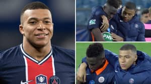 The Classy Moment Kylian Mbappe Comforts Junior Sambia After Missing Crucial Penalty Against PSG