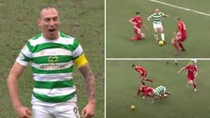 Never Forget When Scott Brown Celebrated After Getting Absolutely Clattered By Three Aberdeen Players