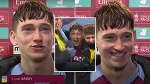 17-Year-Old Louie Barry's Incredible Interview After Debut Goal Vs Liverpool Is Heartwarming
