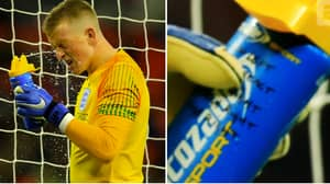 Jordan Pickford Had USA Penalty Takers And Their Preferred Sides On Water Bottle