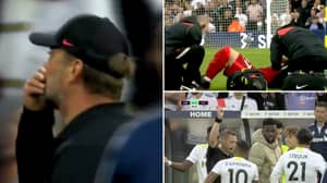 18-Year-Old Harvey Elliott Suffers Suspected Broken Leg During Leeds United vs Liverpool