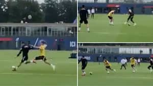 Footage Of Lionel Messi & Kylian Mbappe's 'Telepathic' Understanding After Just ONE Week Of Training Is Frightening