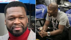 50 Cent Savagely Trolls Floyd Mayweather's Outrageous Super Bowl Outfit