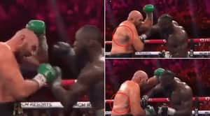 Fans React To Extraordinary Clip Showing What Deontay Wilder's Punch Did To Tyson Fury's Body