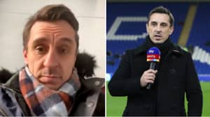 Gary Neville Honestly Reacts To Fans Slamming His Commentary During Burnley Vs. Manchester United