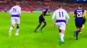 Fans Notice What Erik Lamela Did Against PSV That Should Have Got Him A Straight Red Card
