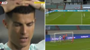 Cristiano Ronaldo Squanders Goalscoring Chance After Failing To Beat Luxembourg Goalkeeper TWICE In One-On-One Battle
