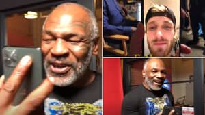 Mike Tyson's Emotional FaceTime To Logan Paul After Floyd Mayweather Fight Is So Wholesome