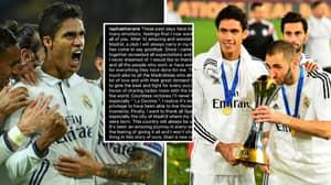 Raphael Varane Posts Heartfelt Message To Real Madrid Fans Before Manchester United Transfer