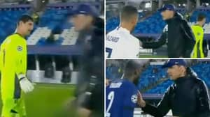 Thomas Tuchel Appeared To Snub Thibaut Courtois' Handshake After Real Madrid's 1-1 Draw With Chelsea