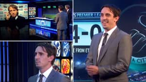 Footage Of Gary Neville's Monday Night Football Debut Has Resurfaced And It's Incredibly Awkward
