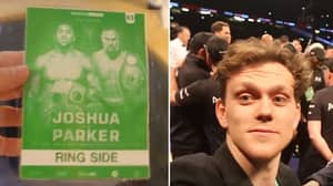 Watch: LAD Blags His Way Into The Ring After Joshua vs Parker