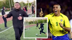 Khabib Nurmagomedov Compares Himself To Brazilian Ronaldo After Scoring A Goal