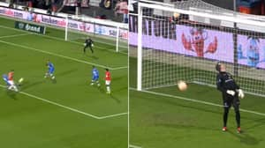 AZ Player Put So Much Spin On Chip-Shot That Ball Spins Away From Net After Landing