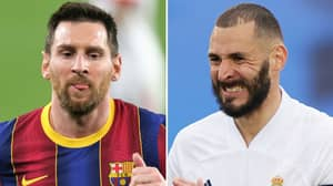 Karim Benzema's Reaction To Lionel Messi's Bombshell Barcelona Exit Is Priceless
