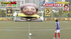 When Shunsuke Nakamura Took Free-Kicks Against Giant Robot On TV Show