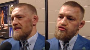 Conor McGregor Gave The 'Greatest Post-Fight Interview After A Loss' Following His Defeat To Nate Diaz