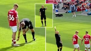 Referee Kevin Friend Gives Crowd A Yellow Card After They Aim 'You're Just A Sh*t Mike Dean' Chant At Him