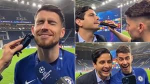 Jorginho Shaves Off Beard On Live TV After Brilliant Champions League Final Bet