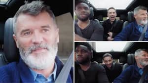 Roy Keane And Micah Richards Joined By Special Guest Gary Neville In Latest Episode Of Wembley Road Trip