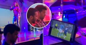 Michael Ballack Ignores Semi-Naked Cabaret Show To Stream Chelsea's Champions League Win On Phone
