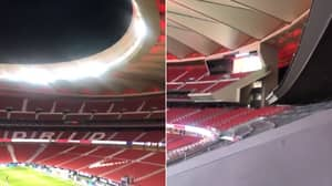 Atletico Fans Outside The Stadium Were So Loud, They Could Be Heard From Inside The Wanda Metropolitano