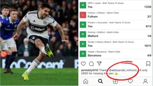 Alexander Mitrovic Responds To Fan Who Lost £855 After He Missed A Penalty