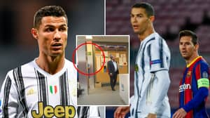 Fans Have Spotted An Interesting Cristiano Ronaldo Headline Pinned Up In Barcelona's Dressing Room