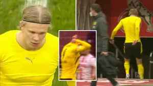 Erling Haaland Throws Shirt At FC Koln Player Before Storming Down Tunnel
