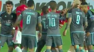 WATCH: John Guidetti's Dive That Sent Eric Bailly Off Is Embarrassing