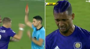 Former Manchester United Winger Nani In Tears After Red Card In Orlando's MLS Clash With Columbus Crew