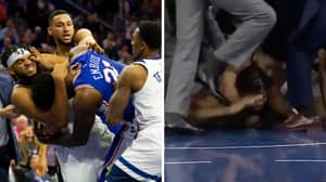 NBA Player Ben Simmons Makes Opponent 'Tap Out' After Putting Him In Rear-Naked Choke Hold