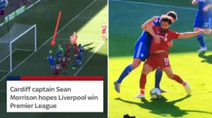 Morrison Misses Open Goal And Fouls Salah After Saying He Wants Liverpool To Win Title