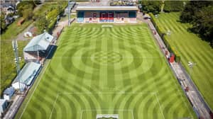 Brechin City FC's Ground Staff Deserve A Medal For Incredible Pitch Design