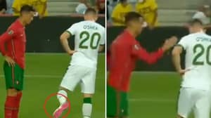 Cristiano Ronaldo Somehow Avoided A Red Card After 'Slapping' Dara O'Shea Moments Before His Penalty