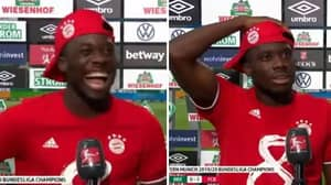 Alphonso Davies' Priceless Reaction To Being Told He Clocked 36.51km/h Against Werder Bremen