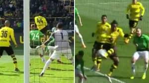 Michy Batshuayi Scores Brilliant Backheel Volley For Borussia Dortmund