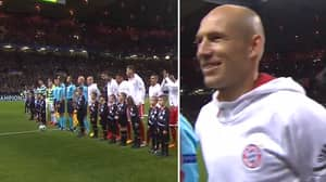 Watch: Arjen Robben Has The Best Reaction To Celtic Park's Atmosphere