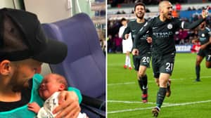 David Silva Celebrates Premier League Title Win With Beautiful Picture Of His Baby Son