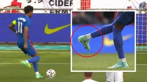 Marcus Rashford's Remarkable Penalty Technique Twists His Ankle In Such An Unnatural Way