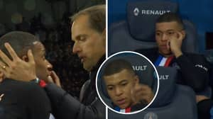 Kylian Mbappe Was Seriously Not Happy After Being Substituted Against Montpellier