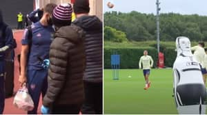 """Arsenal Players And Coaches Hilariously Call Kieran Tierney """"Tesco's"""" In Training"""