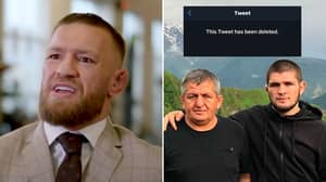 Conor McGregor Deletes Disgusting Tweet About Khabib's Father In Toxic Outburst, He's Officially Crossed The Line