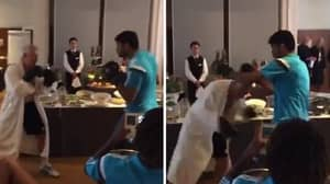 Diego Costa Floors Chelsea's Physio In Never-Seen-Before Pre-Season Clip